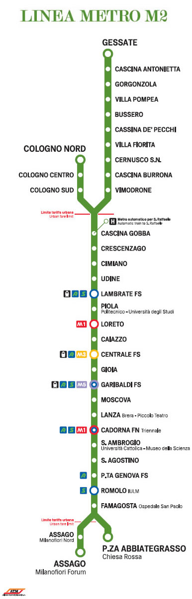 Linea Metropolitana M2 Milano