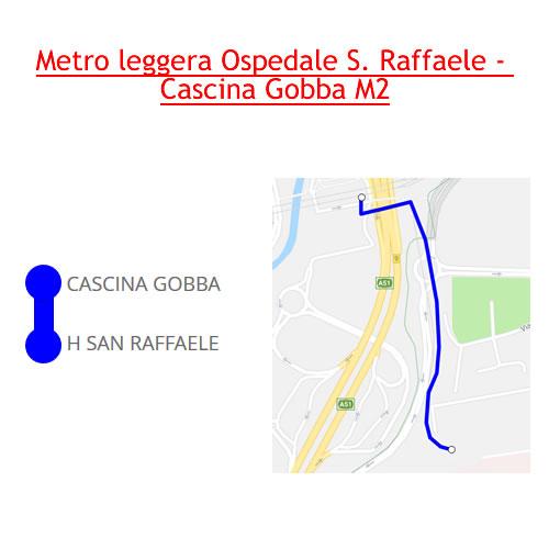 Metro Leggera Ospedale S. Raffaele - Cascina Gobba M2